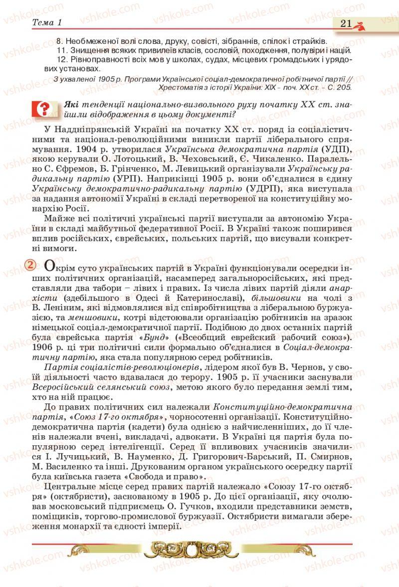 Страница 21 | Учебник Історія України 10 класс О.П. Реєнт, О.В. Малій 2010