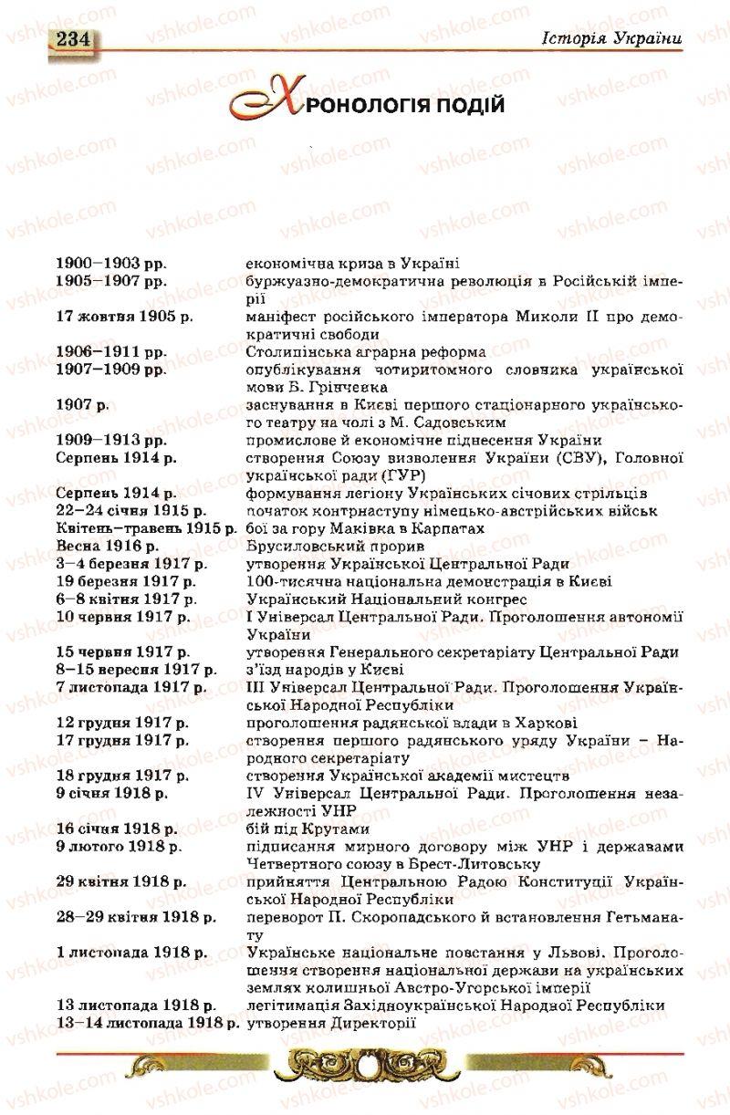 Страница 234   Учебник Історія України 10 класс О.П. Реєнт, О.В. Малій 2010