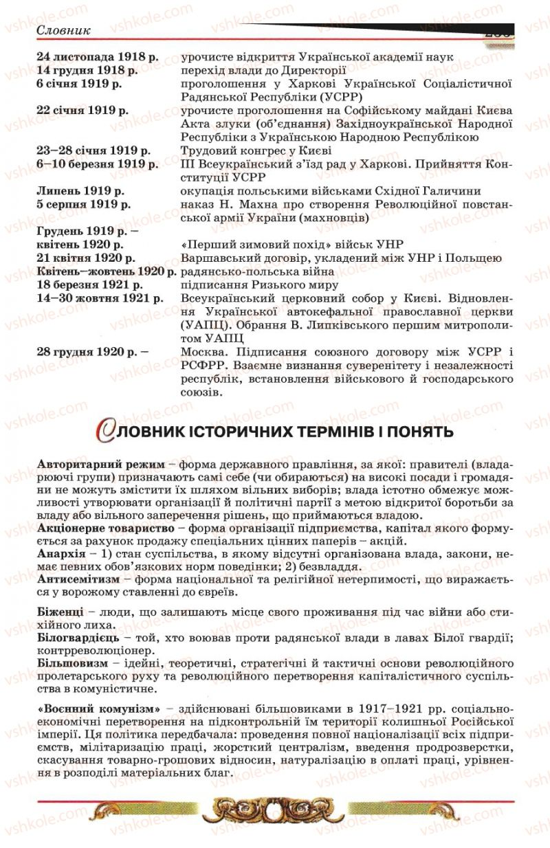 Страница 235 | Учебник Історія України 10 класс О.П. Реєнт, О.В. Малій 2010
