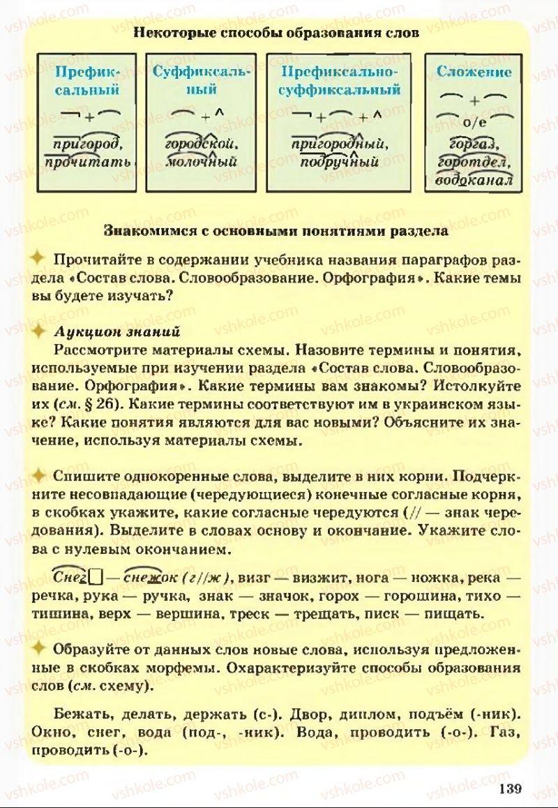 Страница 139 | Учебник Русский язык 5 класс А.Н. Рудяков, Т.Я. Фролова 2013