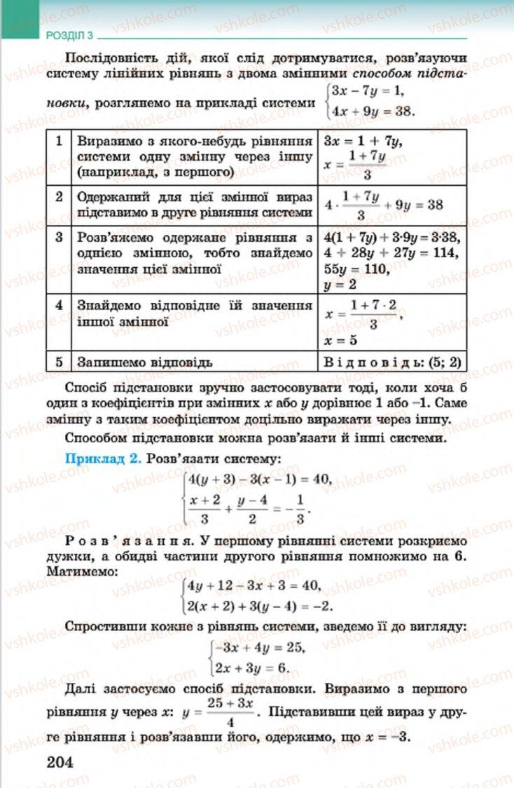 Страница 204 | Учебник Алгебра 7 класс О.С. Істер 2015
