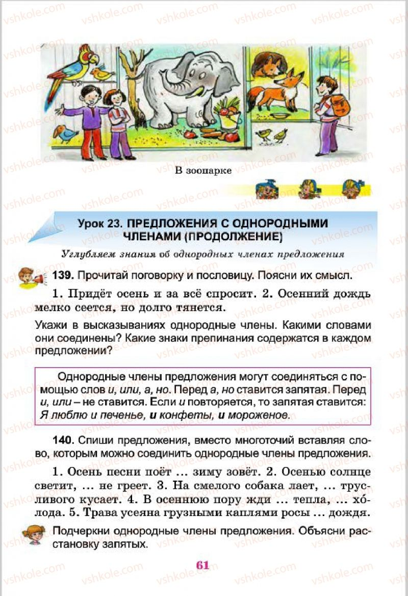 Страница 61 | Учебник Русский язык 4 класс Е.И. Самонова, В.И. Стативка, Т.М. Полякова 2015
