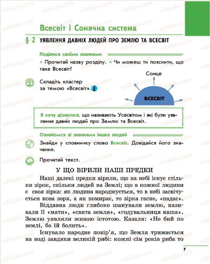 Страница 7 | Учебник Природознавство 4 класс О.В. Тагліна, Г.Ж. Іванова 2015