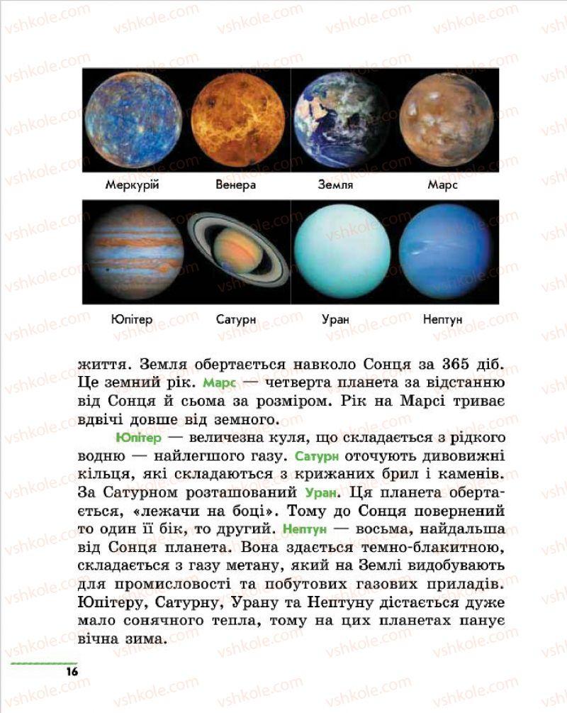 Страница 16 | Учебник Природознавство 4 класс О.В. Тагліна, Г.Ж. Іванова 2015