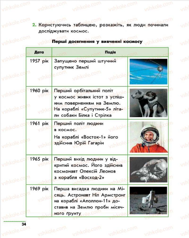 Страница 34   Учебник Природознавство 4 класс О.В. Тагліна, Г.Ж. Іванова 2015