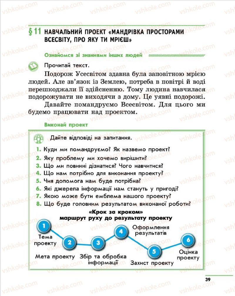 Страница 39 | Учебник Природознавство 4 класс О.В. Тагліна, Г.Ж. Іванова 2015