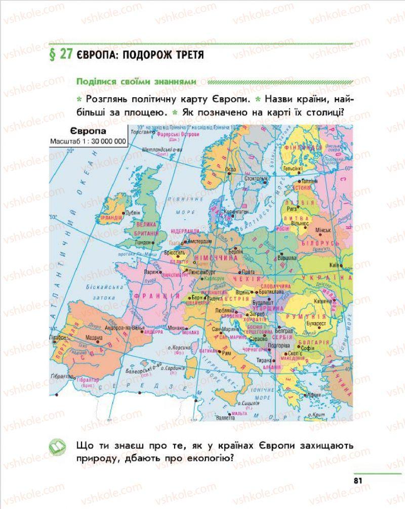 Страница 81 | Учебник Природознавство 4 класс О.В. Тагліна, Г.Ж. Іванова 2015