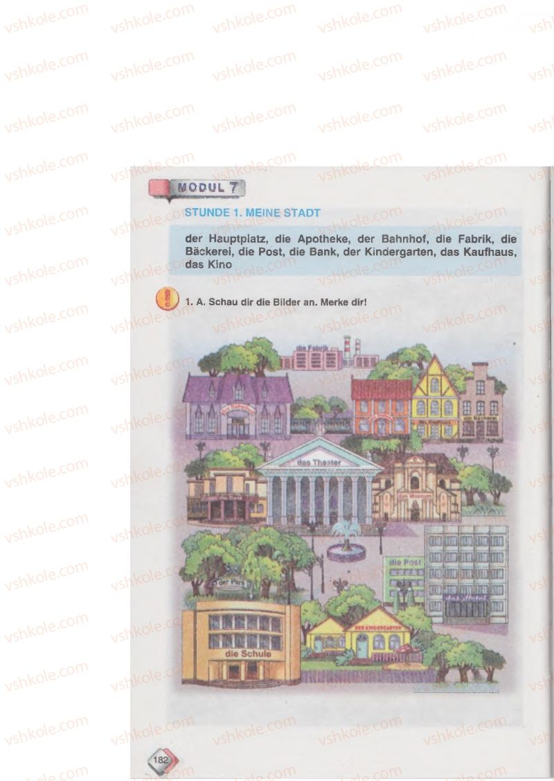 Страница 182   Учебник Німецька мова 6 класс М.М. Сидоренко, О.А. Палій 2014 2 рік навчання