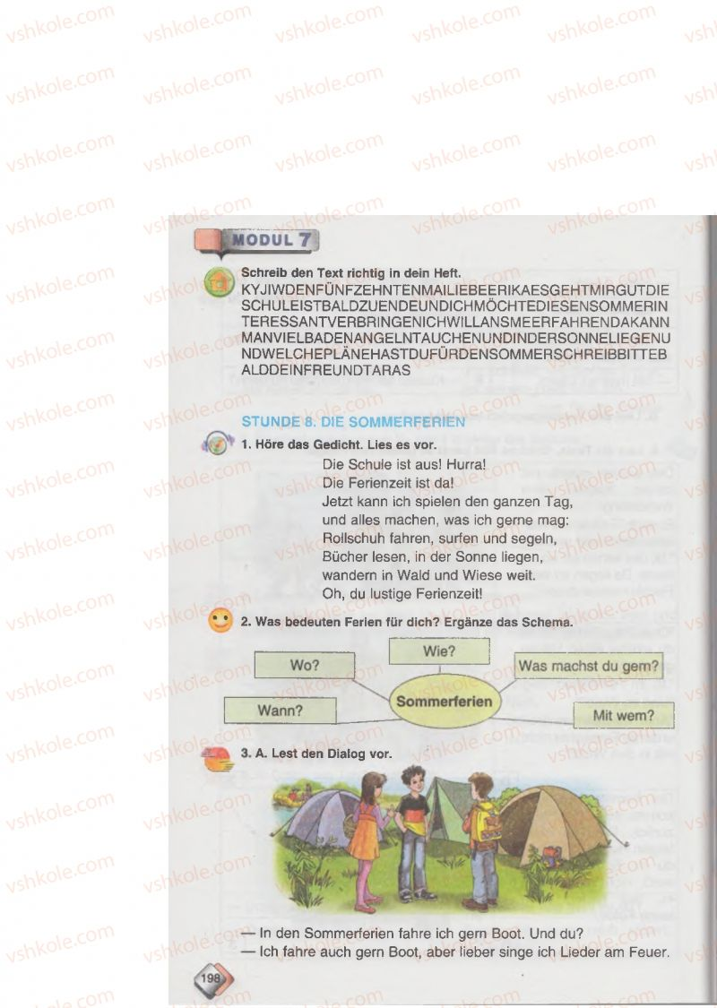 Страница 198 | Учебник Німецька мова 6 класс М.М. Сидоренко, О.А. Палій 2014 2 рік навчання