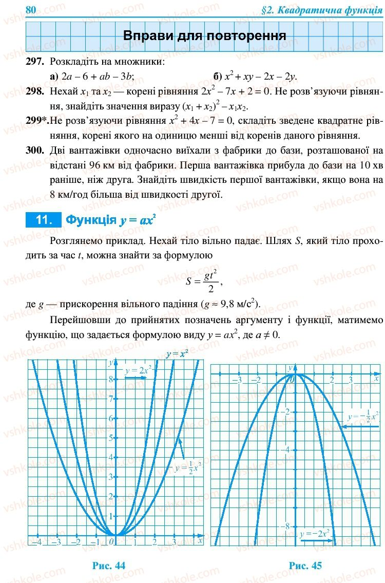 Страница 80 | Учебник Алгебра 9 класс В.Р. Кравчук, Г.М. Янченко, М.В. Підручна 2009