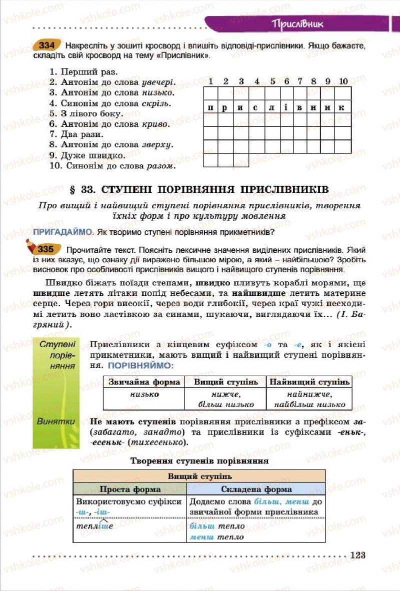 Страница 123 | Учебник Українська мова 7 класс О.В. Заболотний, В.В. Заболотний 2015