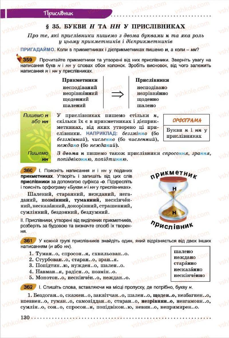 Страница 130 | Учебник Українська мова 7 класс О.В. Заболотний, В.В. Заболотний 2015