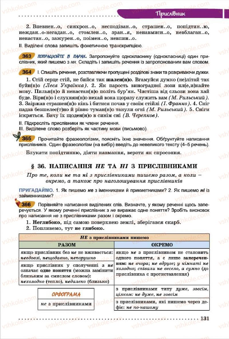 Страница 131 | Учебник Українська мова 7 класс О.В. Заболотний, В.В. Заболотний 2015