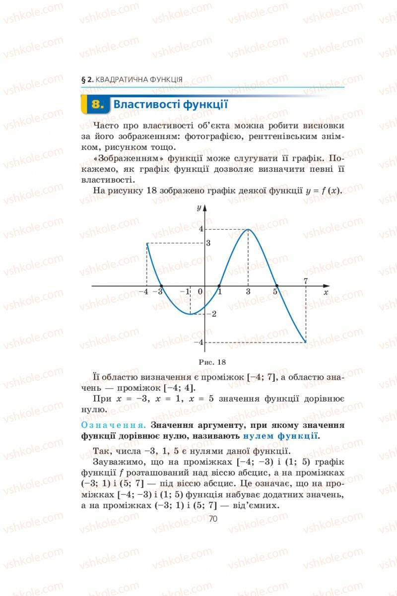 Страница 70 | Учебник Алгебра 9 класс А.Г. Мерзляк, В.Б. Полонський, М.С. Якір 2009