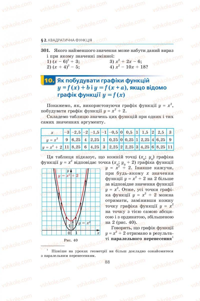 Страница 88 | Учебник Алгебра 9 класс А.Г. Мерзляк, В.Б. Полонський, М.С. Якір 2009
