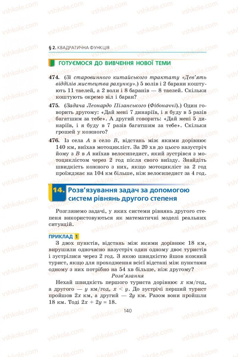 Страница 140   Учебник Алгебра 9 класс А.Г. Мерзляк, В.Б. Полонський, М.С. Якір 2009