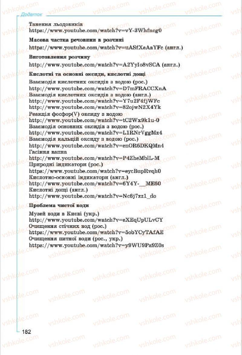 Страница 182 | Учебник Хімія 7 класс Г.А. Лашевська, А.А. Лашевська 2015