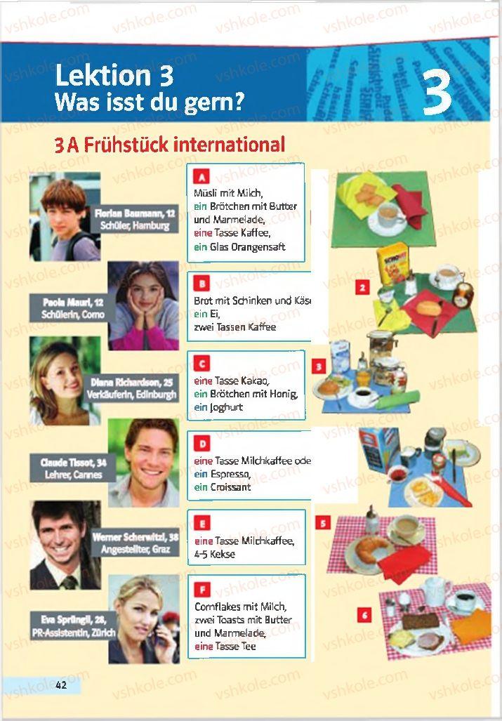 Страница 42 | Учебник Німецька мова 7 класс Н.П. Басай 2015 3 рік навчання