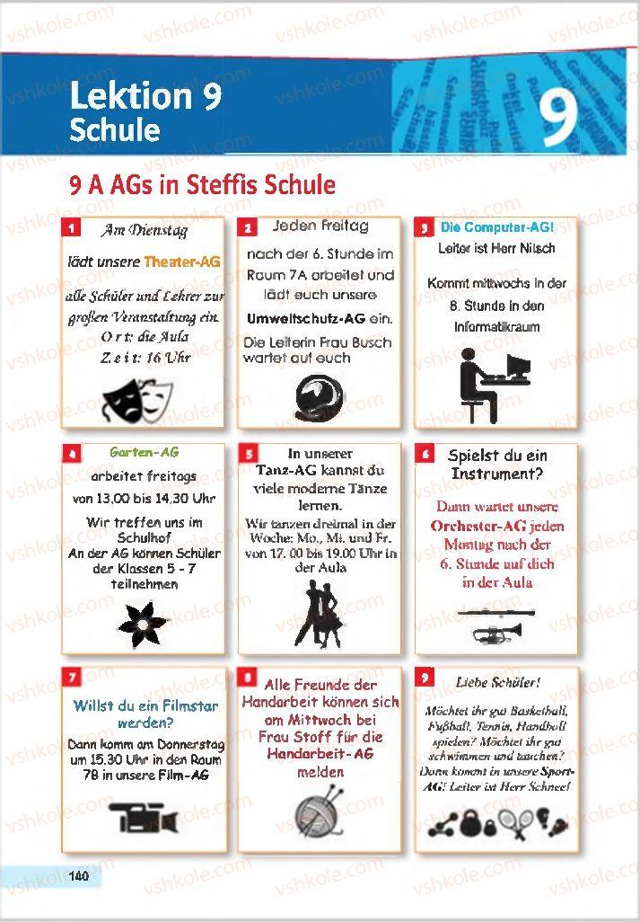 Страница 140 | Учебник Німецька мова 7 класс Н.П. Басай 2015 3 рік навчання