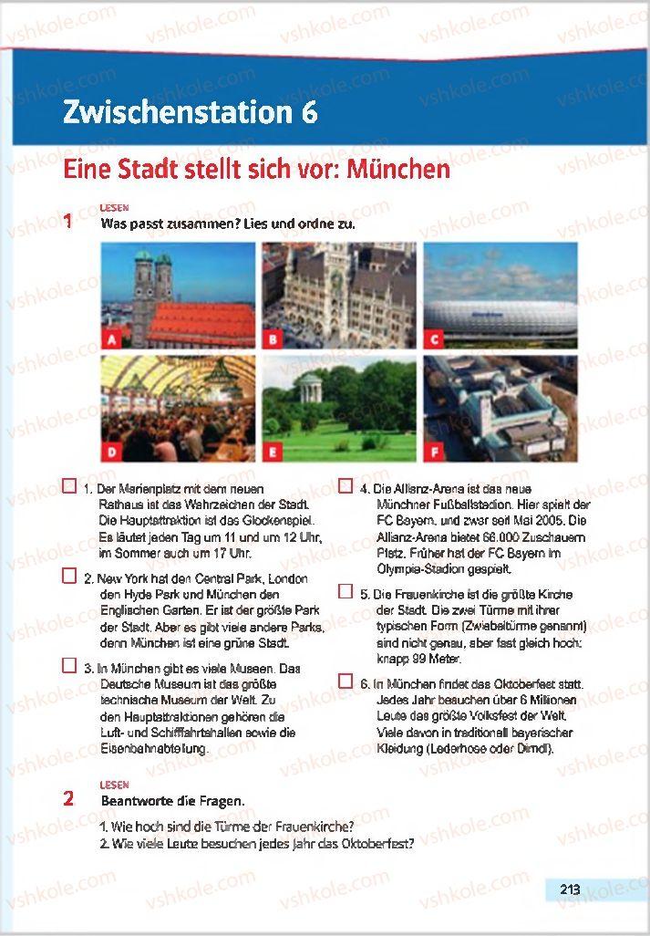 Страница 213 | Учебник Німецька мова 7 класс Н.П. Басай 2015 3 рік навчання