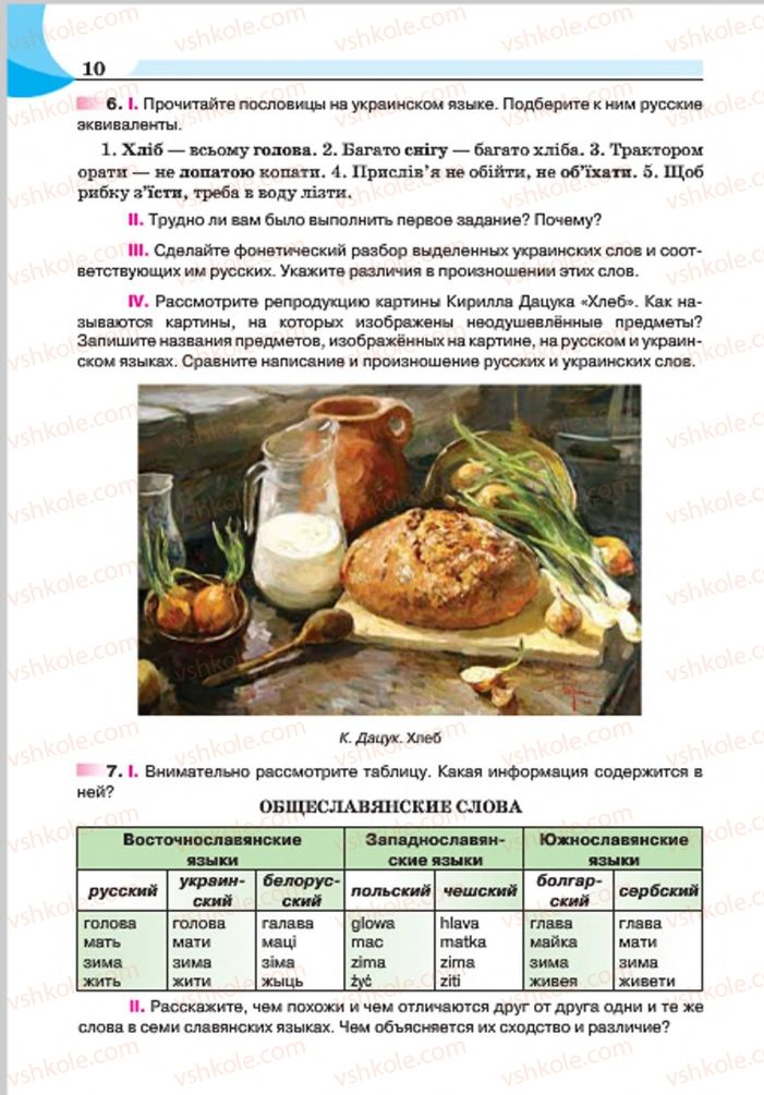 Страница 10 | Учебник Русский язык 7 класс Е.И. Быкова, Л.В. Давидюк, Е.Ф. Рачко 2015