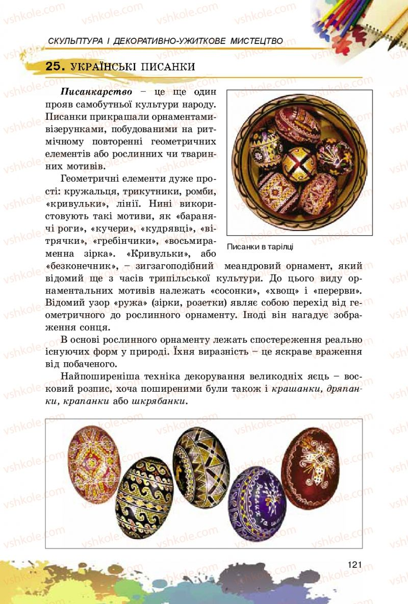 Страница 121 | Учебник Образотворче мистецтво 5 класс С.М. Железняк, О.В. Ламонова 2016