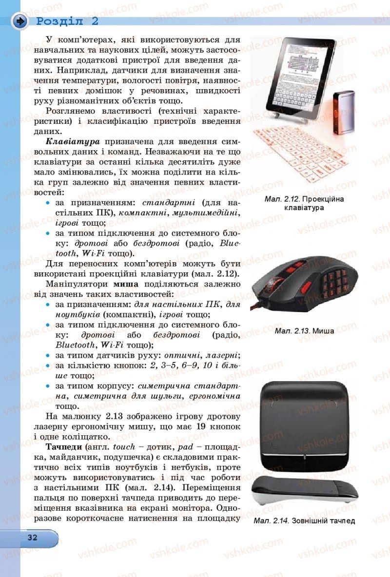 Страница 32 | Учебник Інформатика 8 класс Й.Я. Ривкінд  2016