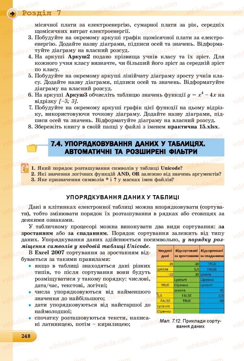 Страница 248   Учебник Інформатика 8 класс Й.Я. Ривкінд  2016
