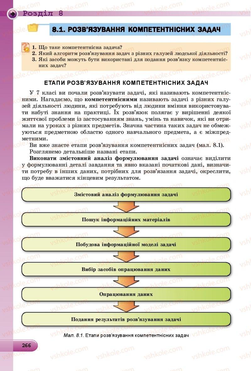 Страница 266 | Учебник Інформатика 8 класс Й.Я. Ривкінд  2016