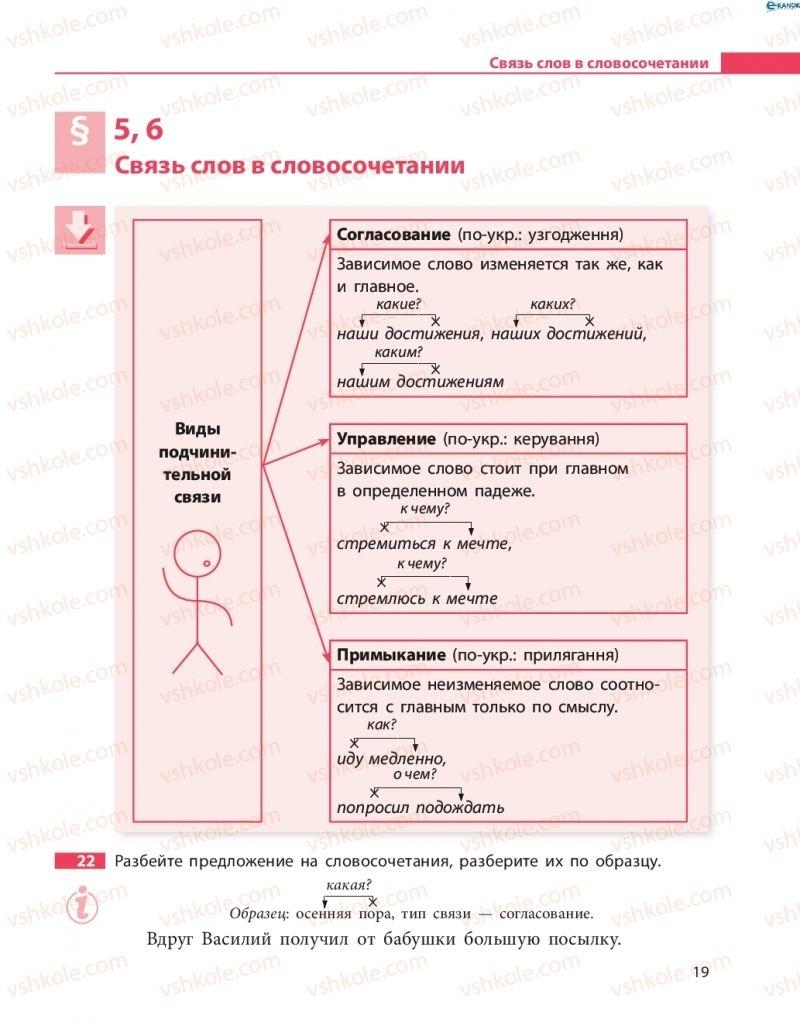 Страница 19 | Учебник Русский язык 8 класс Н.Ф. Баландина 2016 8 год обучения