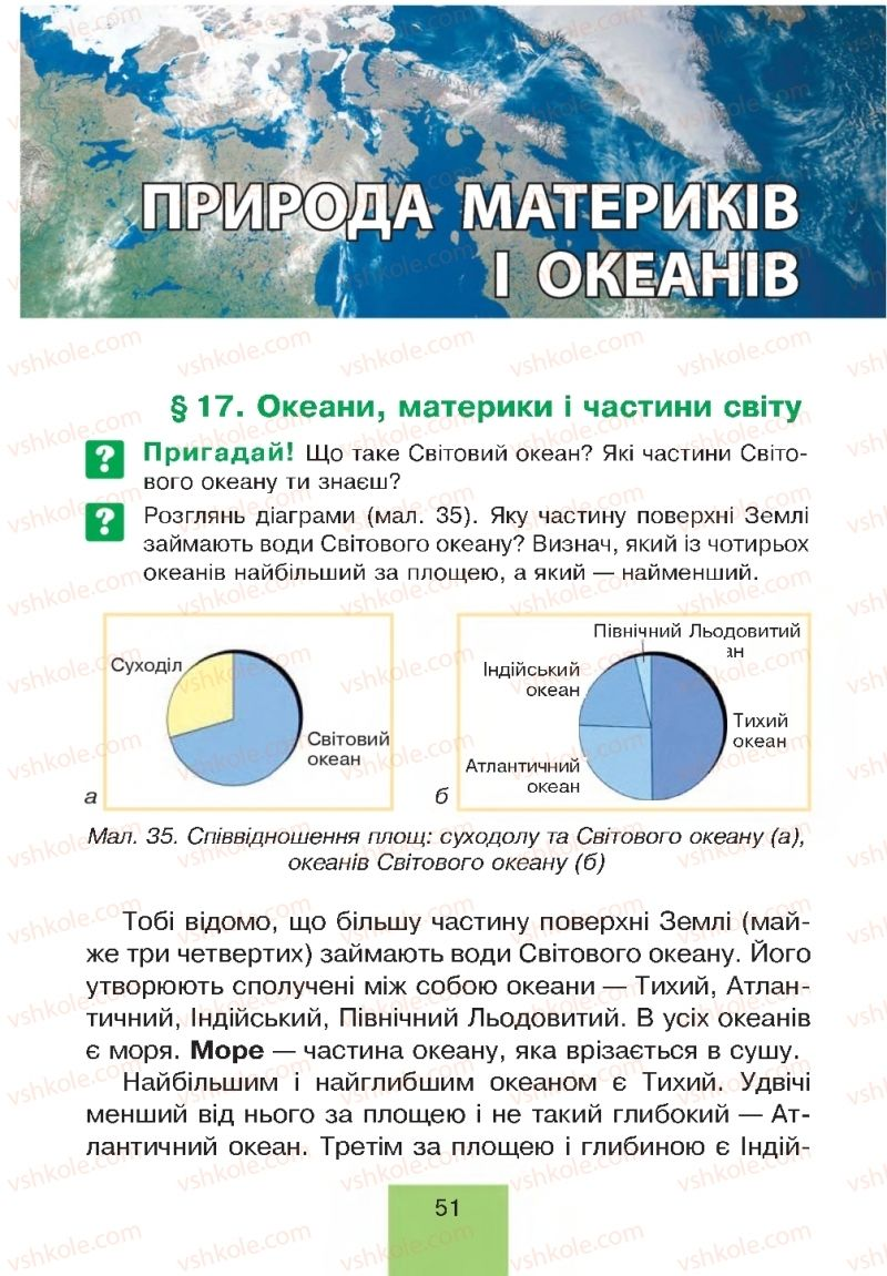 Страница 51 | Учебник Природознавство 4 класс Т.В. Гладюк, М.М. Гладюк 2015