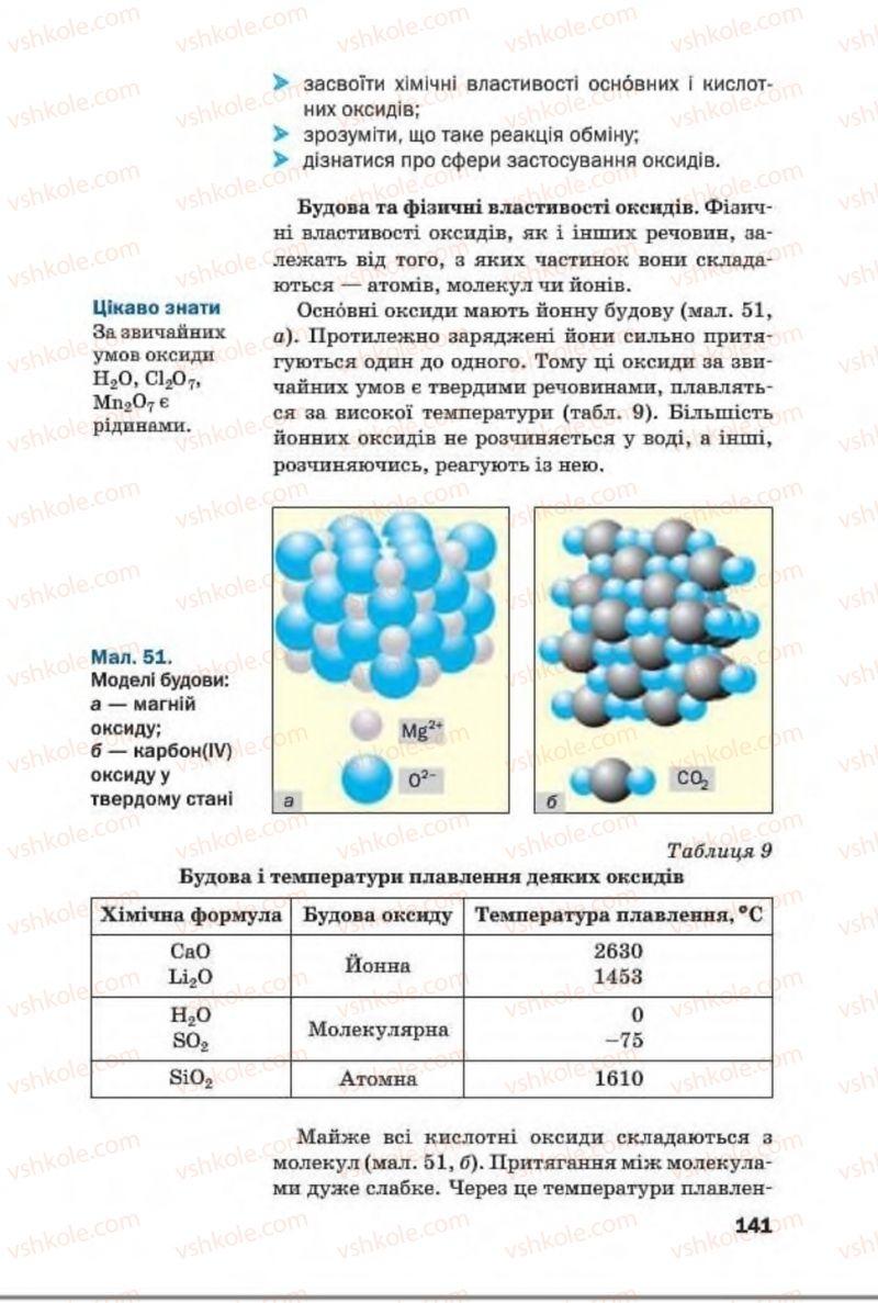 Страница 141 | Учебник Хімія 8 класс П.П. Попель, Л.С. Крикля 2016