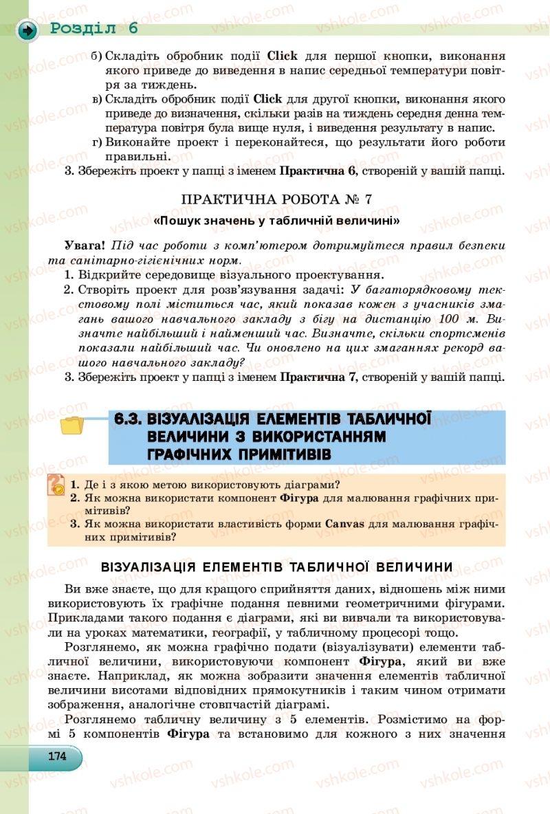 Страница 174 | Учебник Інформатика 9 класс Й.Я. Ривкінд, Т.І. Лисенко, Л.А. Чернікова, В.В. Шакотько 2017