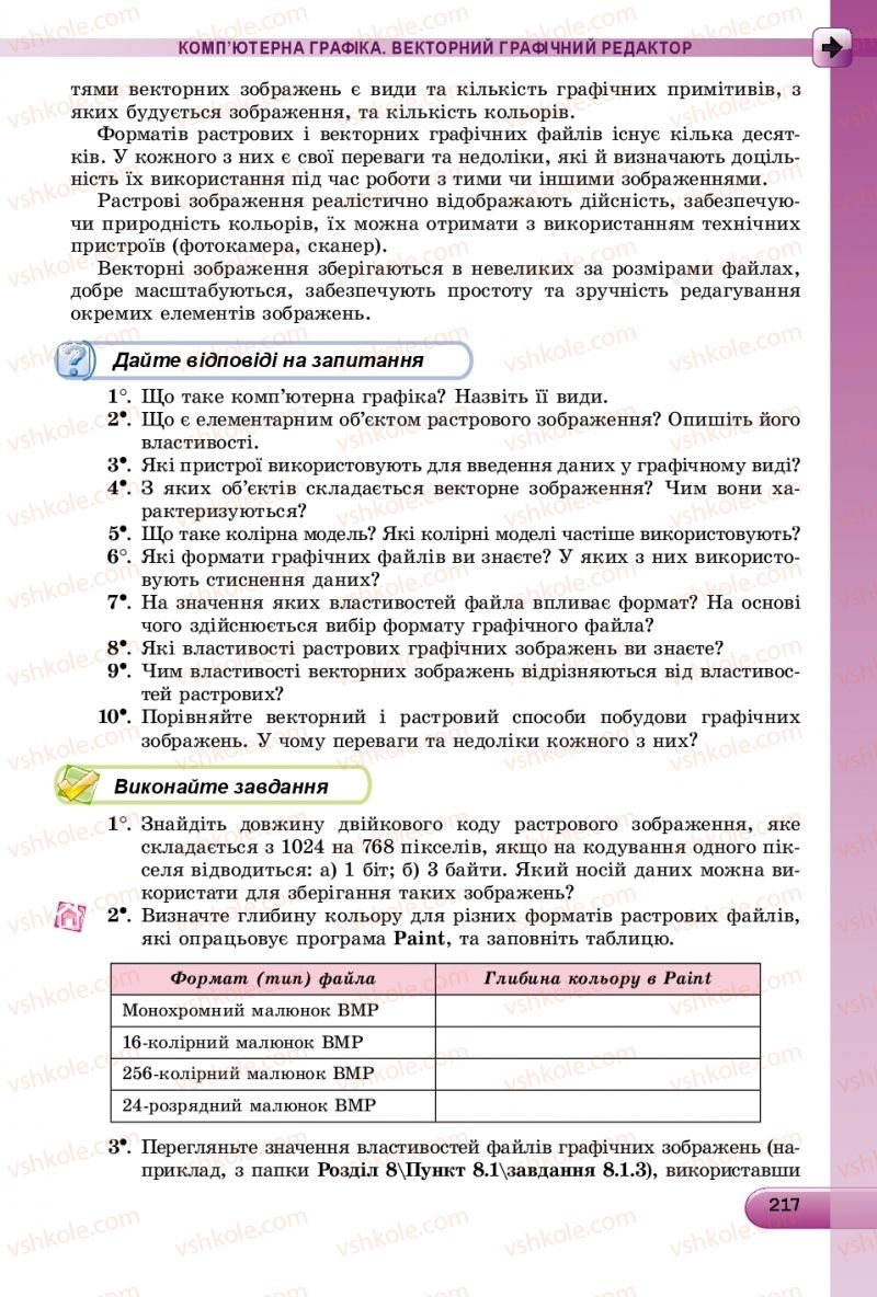 Страница 217 | Учебник Інформатика 9 класс Й.Я. Ривкінд, Т.І. Лисенко, Л.А. Чернікова, В.В. Шакотько 2017