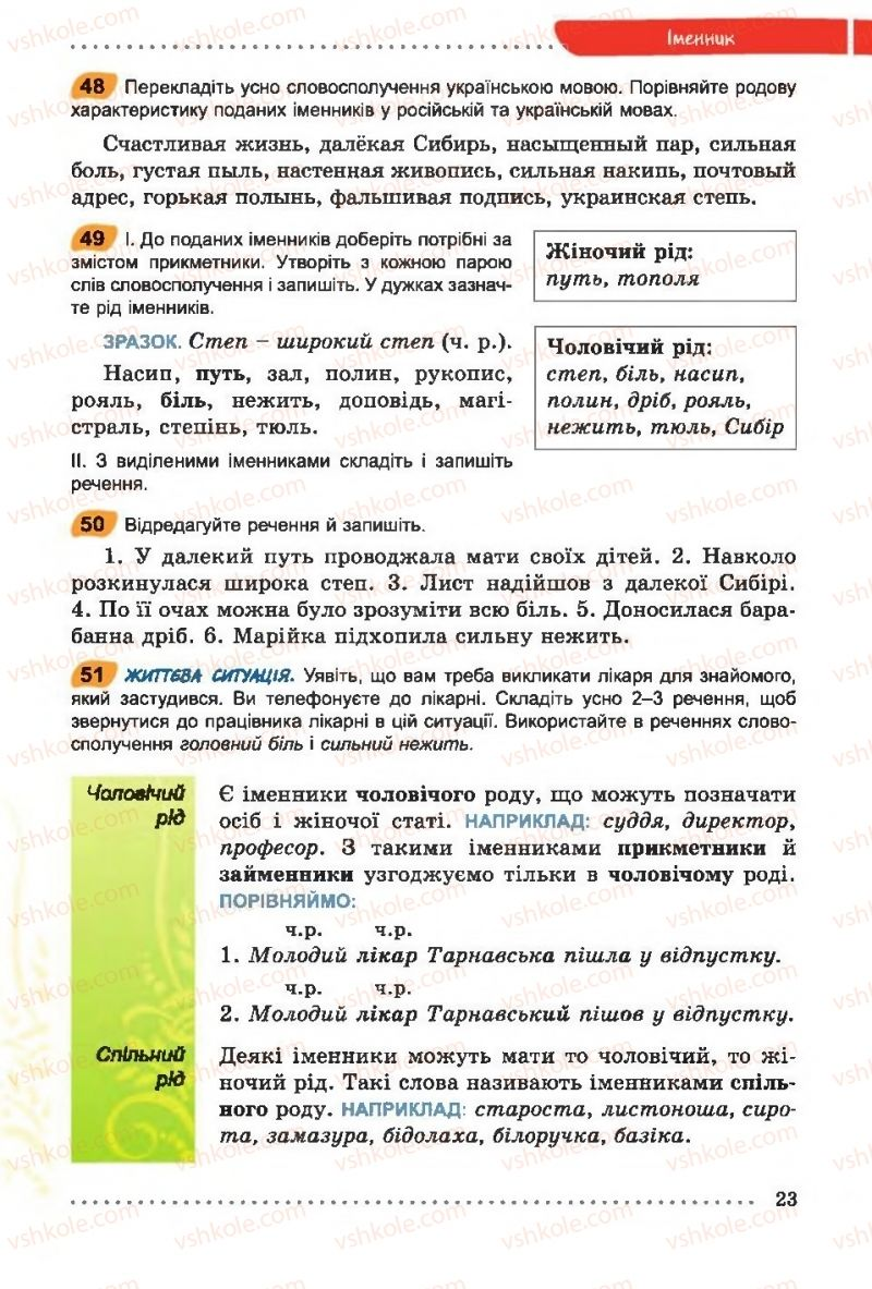Страница 23 | Учебник Українська мова 6 класс О. В. Заболотний, В. В. Заболотний 2014 На російській мові
