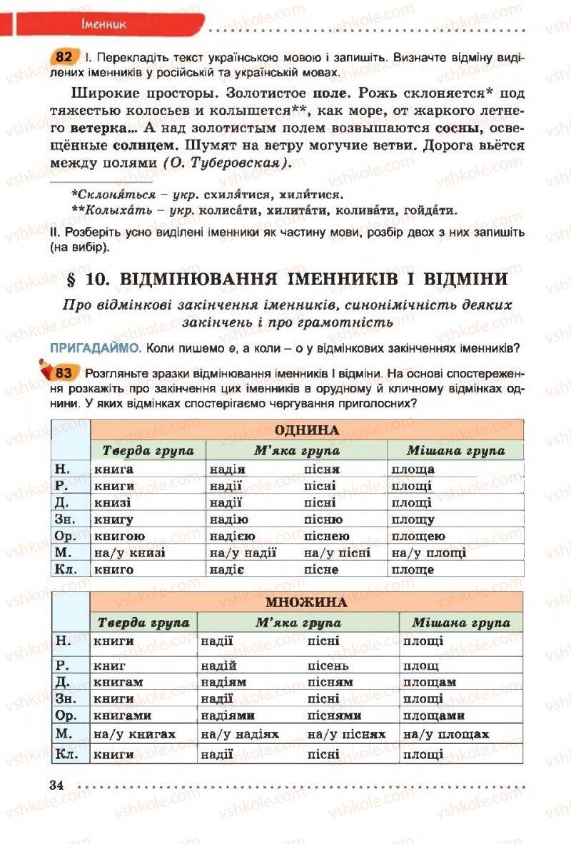Страница 34 | Учебник Українська мова 6 класс О. В. Заболотний, В. В. Заболотний 2014 На російській мові