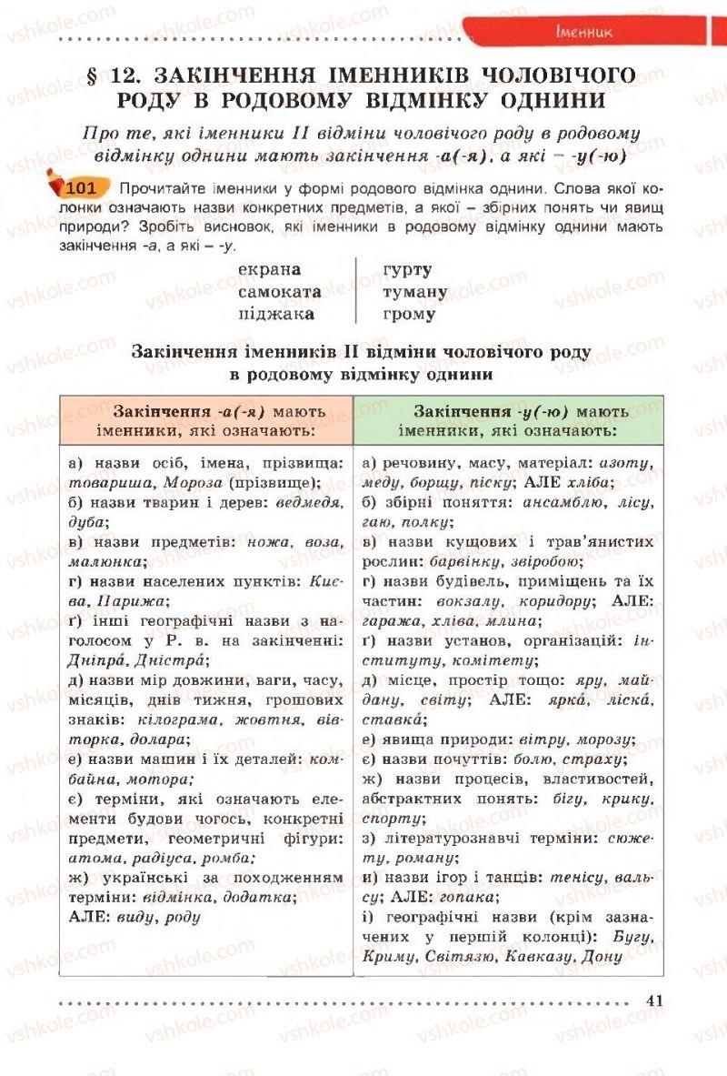 Страница 41 | Учебник Українська мова 6 класс О. В. Заболотний, В. В. Заболотний 2014 На російській мові