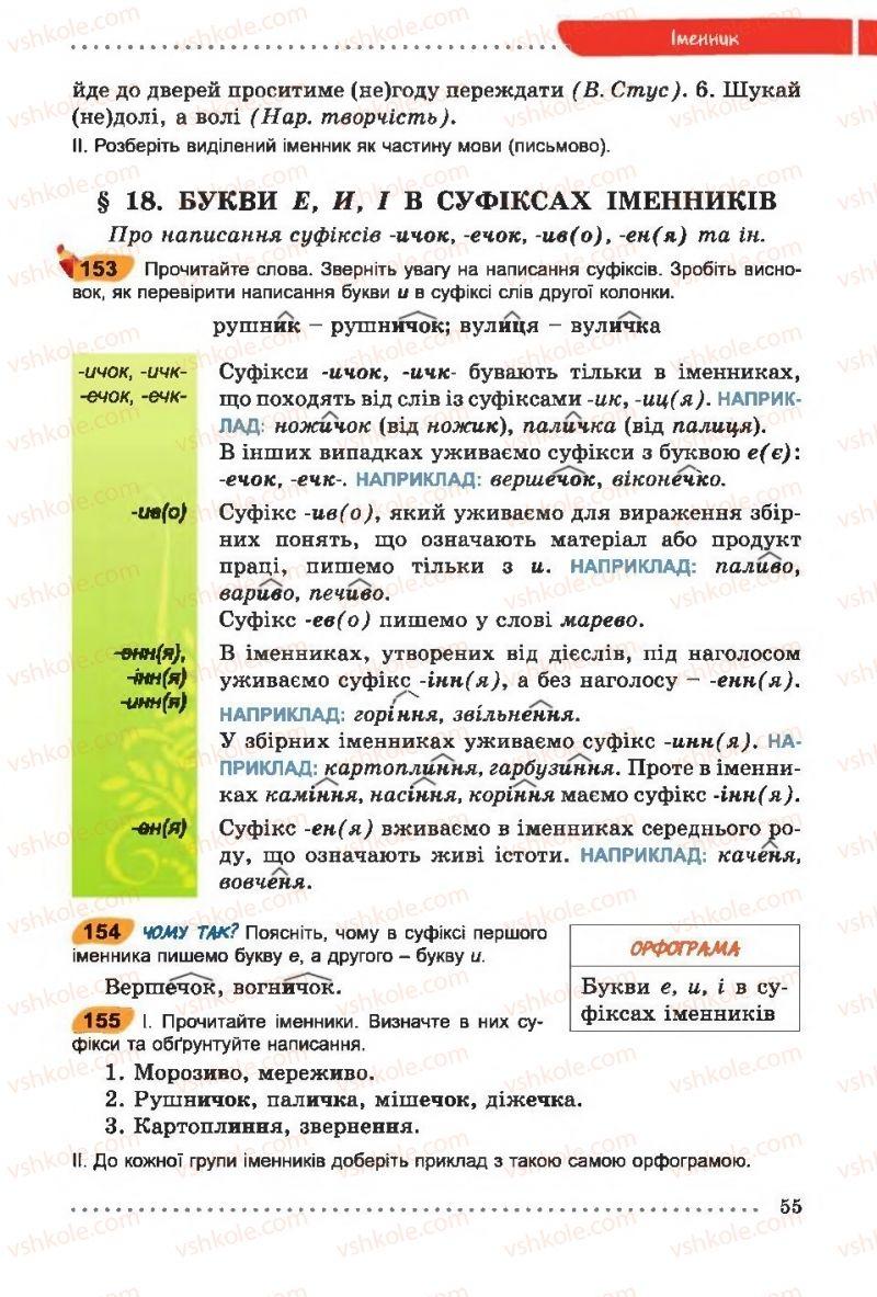 Страница 55 | Учебник Українська мова 6 класс О. В. Заболотний, В. В. Заболотний 2014 На російській мові