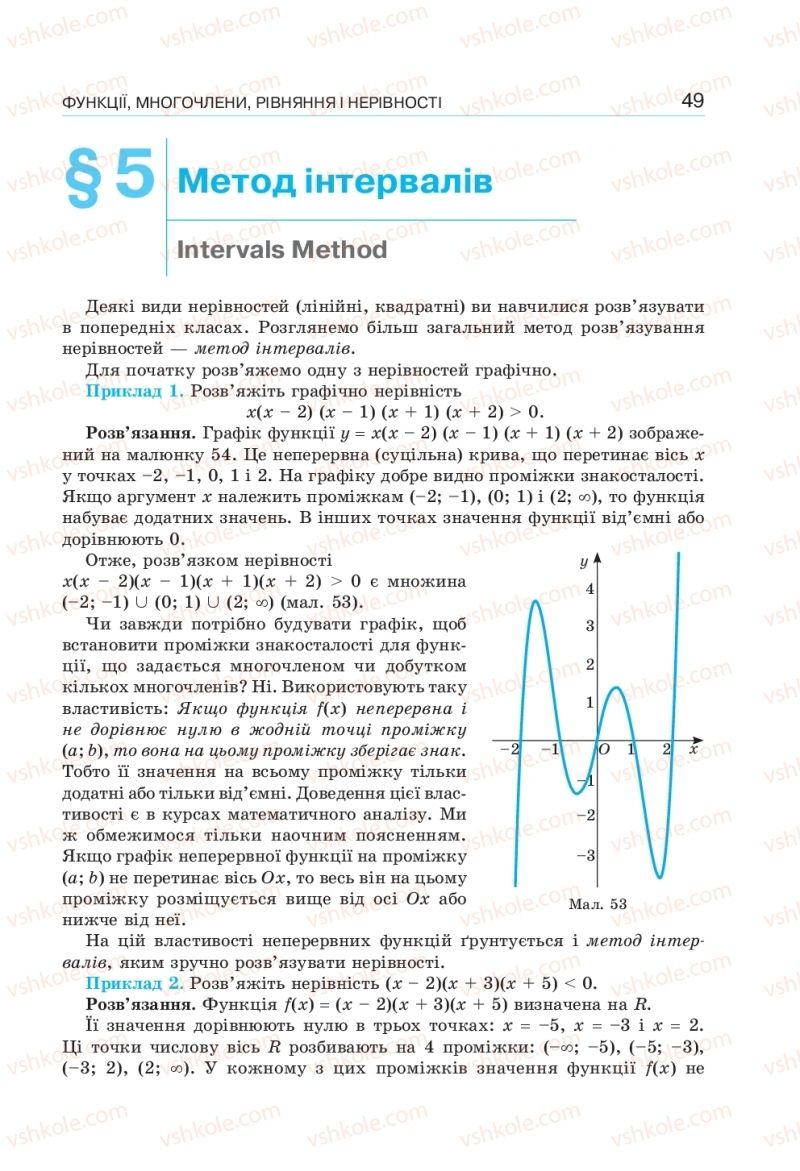 Страница 49 | Учебник Алгебра 10 класс  Г. П. Бевз, В. Г. Бевз, Н. Г. Владімірова 2018 Профільний рівень