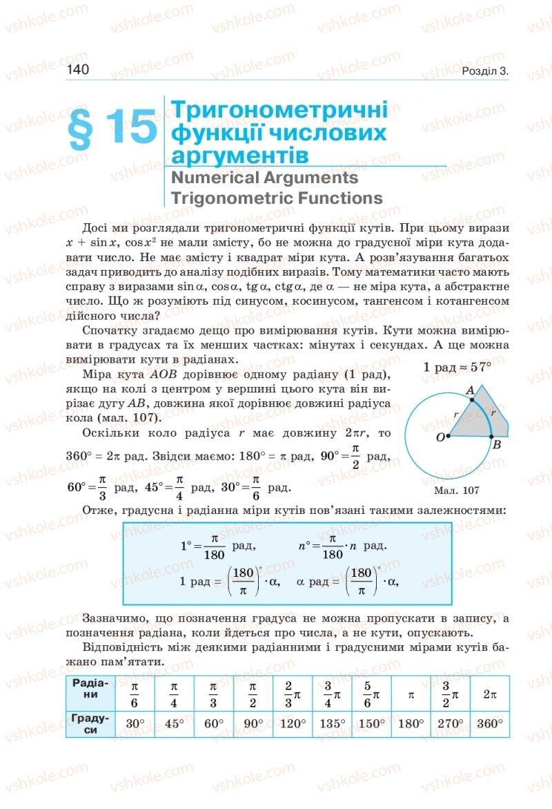 Страница 140 | Учебник Алгебра 10 класс  Г. П. Бевз, В. Г. Бевз, Н. Г. Владімірова 2018 Профільний рівень