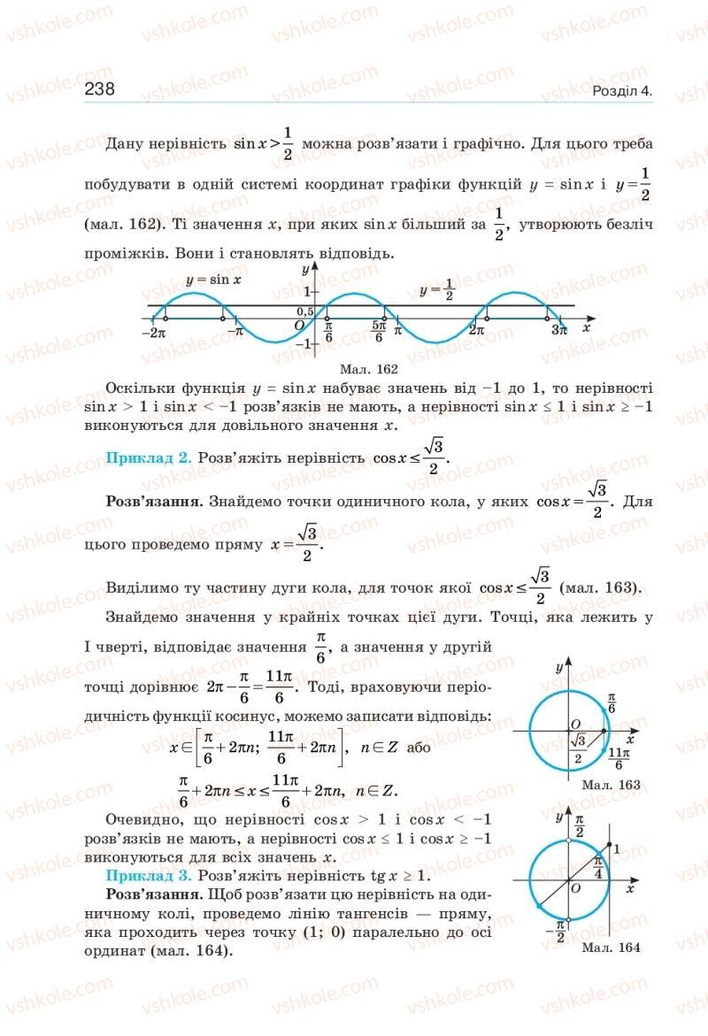 Страница 238 | Учебник Алгебра 10 класс  Г. П. Бевз, В. Г. Бевз, Н. Г. Владімірова 2018 Профільний рівень