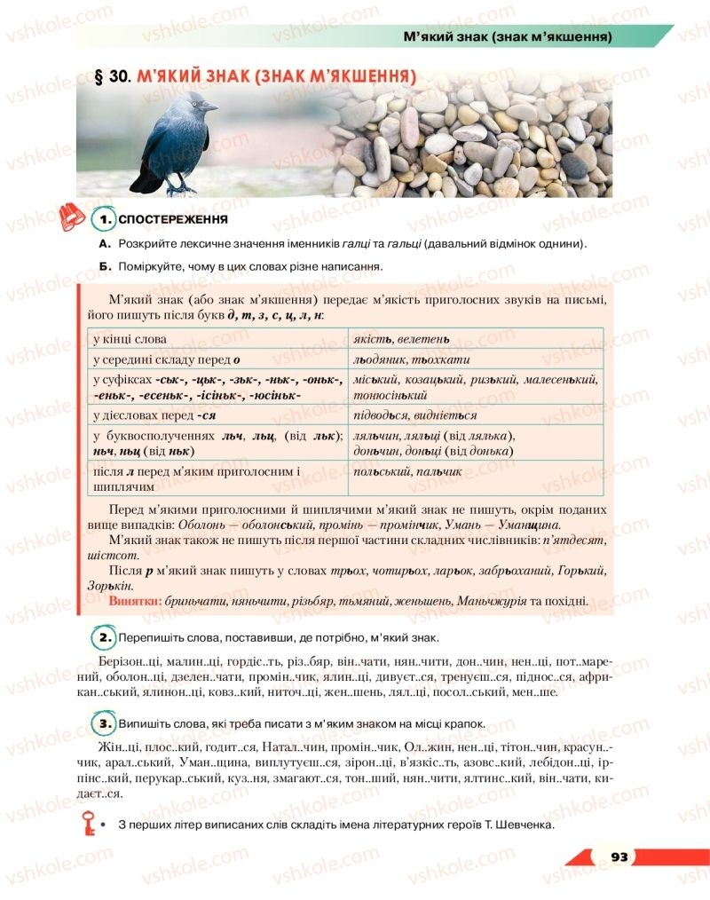 Страница 93 | Учебник Українська мова 10 класс О. М. Авраменко 2018