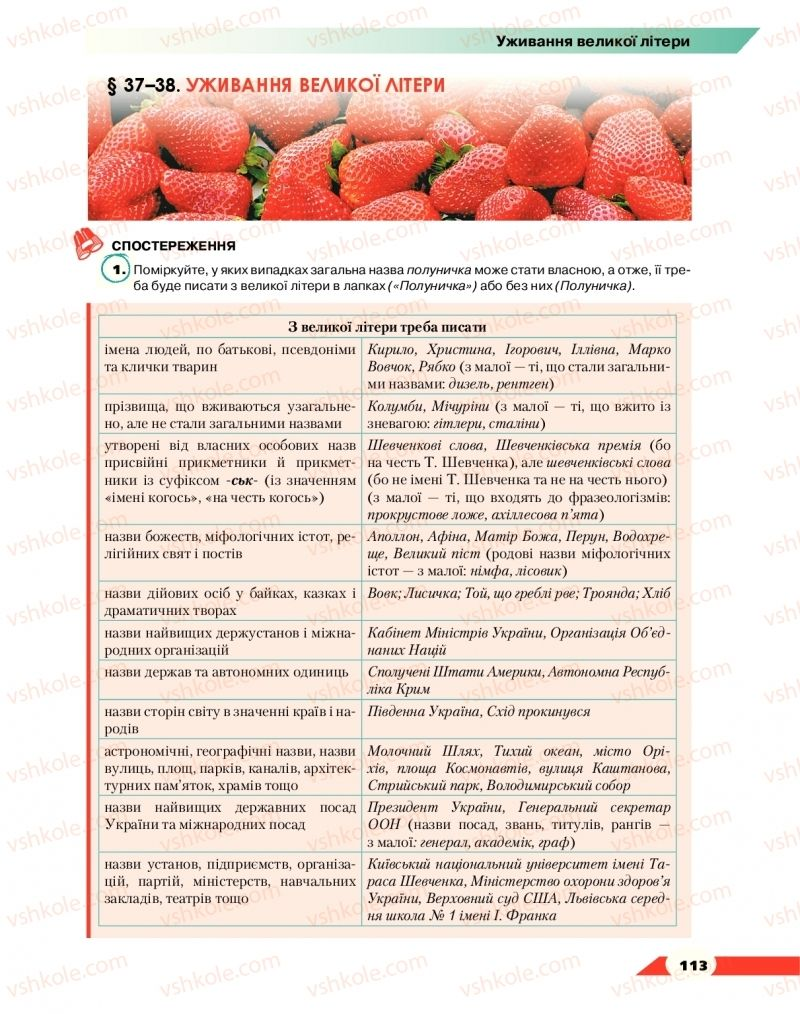 Страница 113 | Учебник Українська мова 10 класс О. М. Авраменко 2018