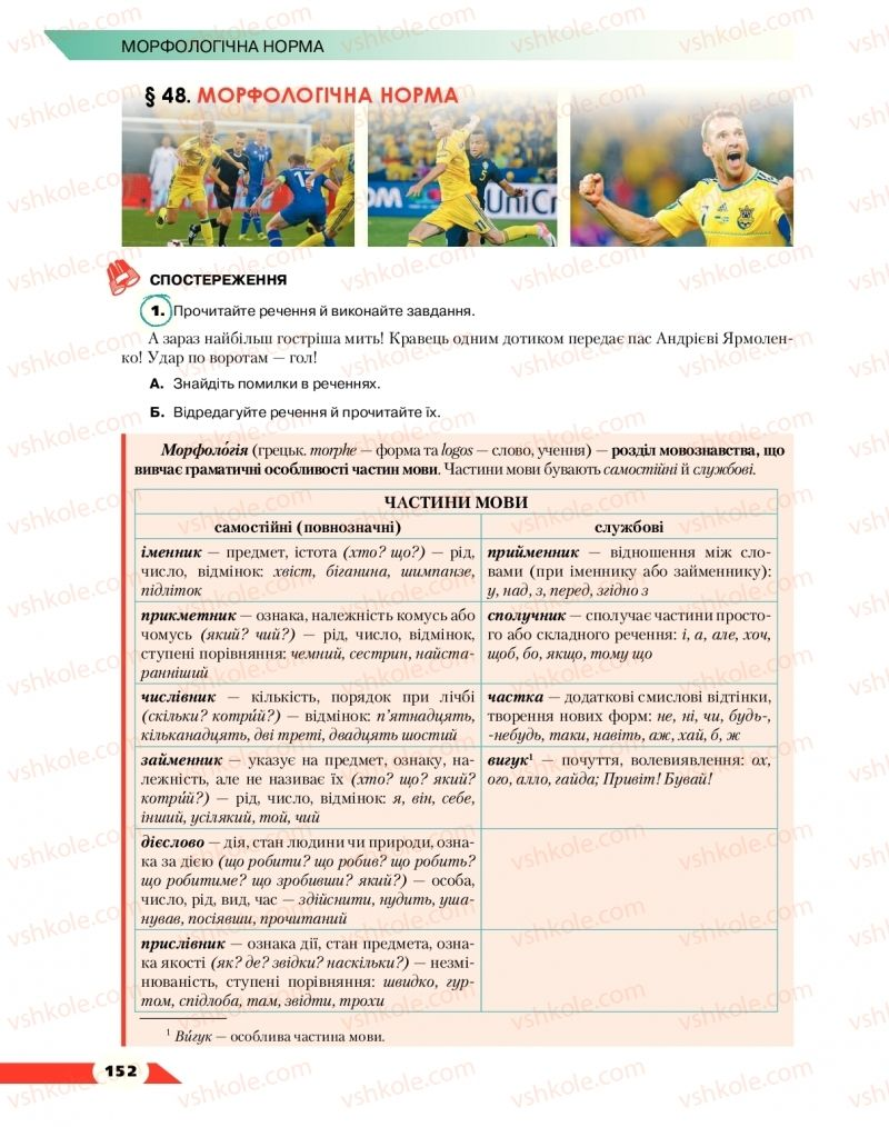 Страница 152 | Учебник Українська мова 10 класс О. М. Авраменко 2018
