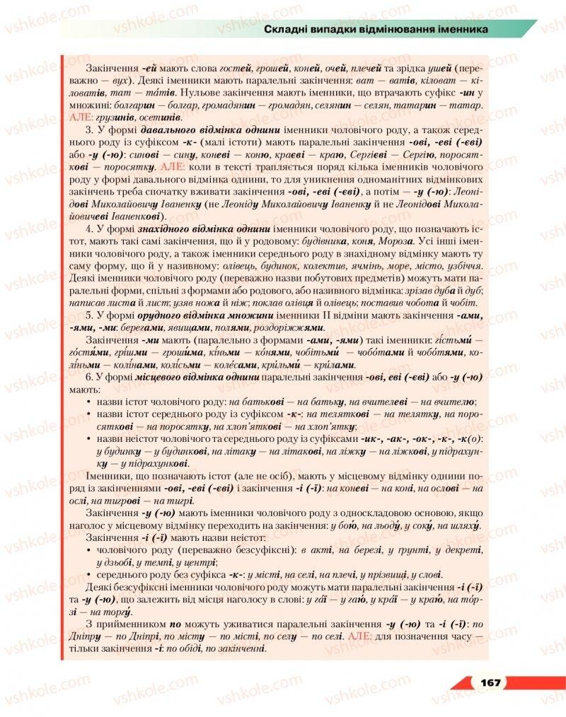Страница 167 | Учебник Українська мова 10 класс О. М. Авраменко 2018