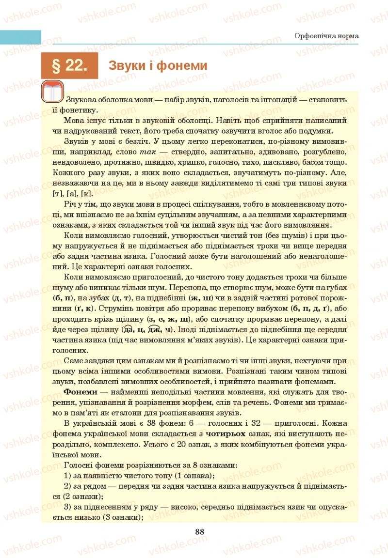 Страница 88 | Учебник Українська мова 10 класс І. П. Ющук 2018