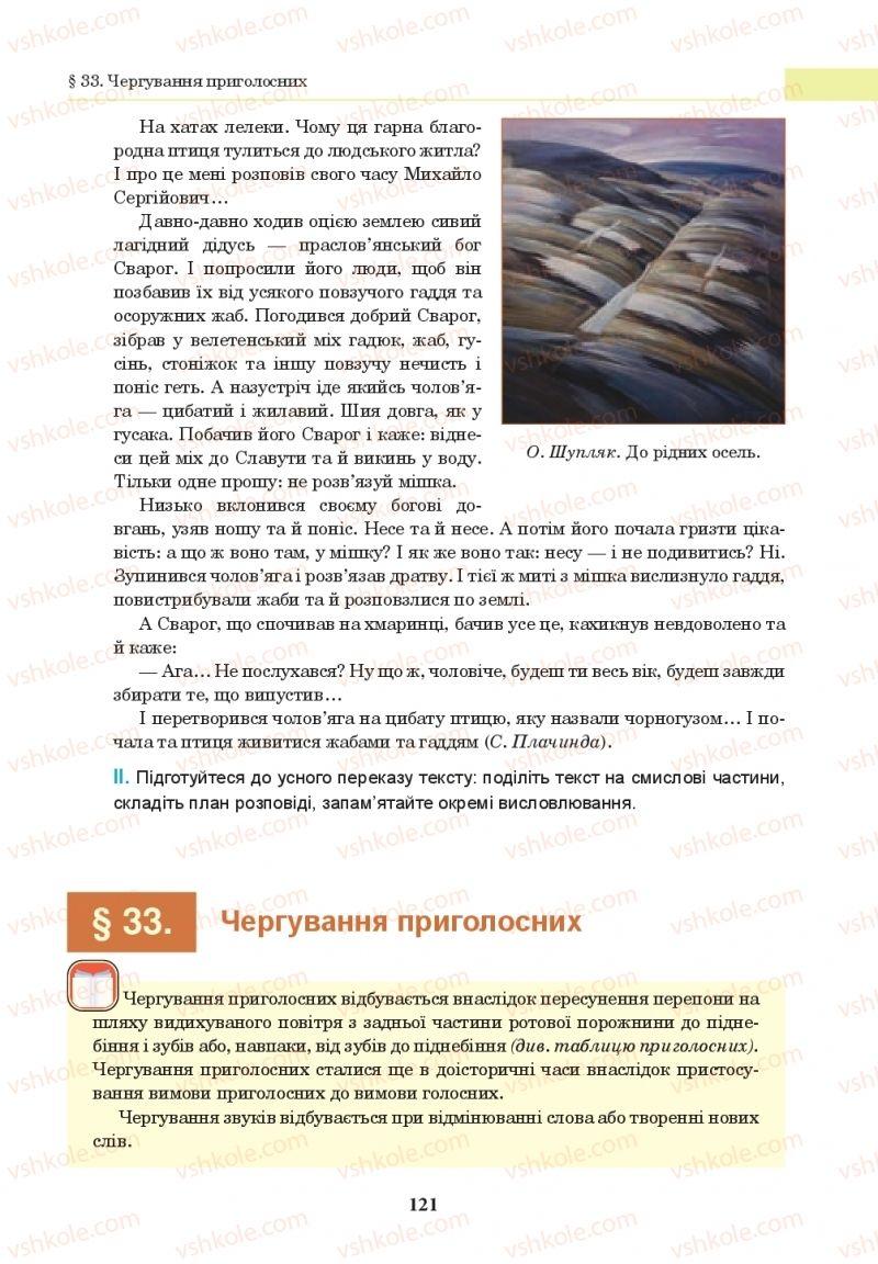 Страница 121 | Учебник Українська мова 10 класс І. П. Ющук 2018