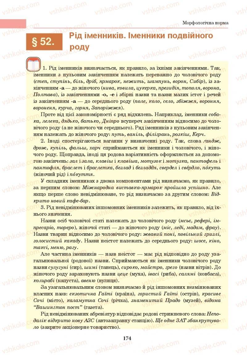 Страница 174 | Учебник Українська мова 10 класс І. П. Ющук 2018