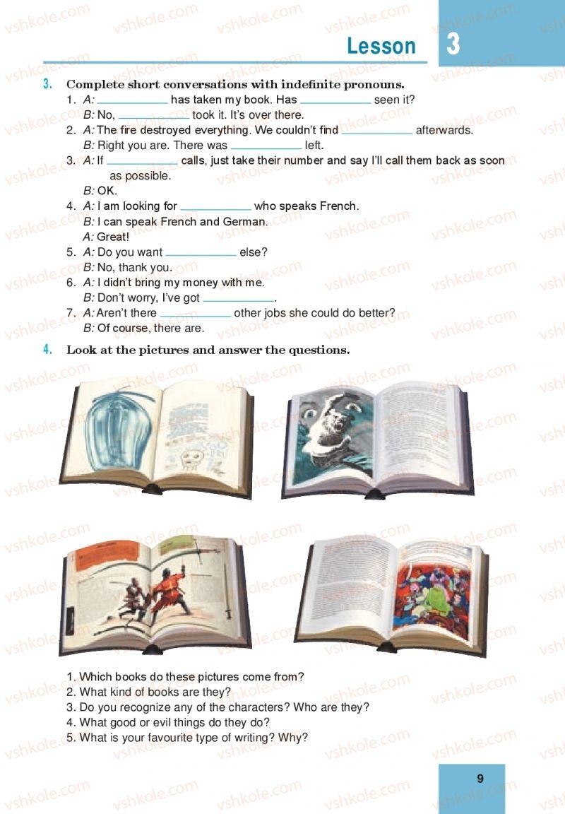 Страница 9 | Учебник Англiйська мова 10 класс М. О. Кучма 2018