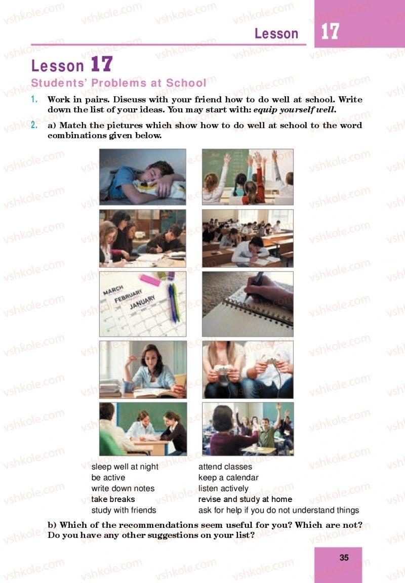 Страница 35 | Учебник Англiйська мова 10 класс М. О. Кучма 2018